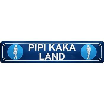 Amazon De Pipi Kaka Land Wc Toilette Schild Klo Strassenschild