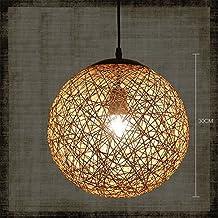 Lightoray Lampadario moderno plafoniere Sfera di canapa Round della corda di  canapa Vine 30CM E27 Vintage