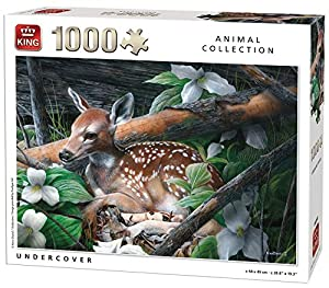 King Animal Collection Undercover 1000 pcs Puzzle - Rompecabezas (Puzzle Rompecabezas, Fauna, Adultos, Prodigar, Hombre/Mujer, 8 año(s))