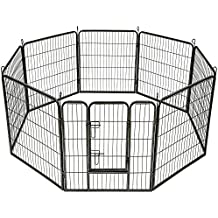 TecTake Parque para mascotas valla libre corriendo jaula para animales - varios modelos - (8