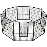 TecTake Parco per Animali Domestici Recinzione Libero Corsa Gabbia per Animali-Vari Modelli - 8 steccati/Numero 401717