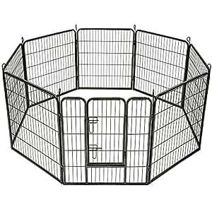 TecTake Large animal puppy enclosure playpen fence free