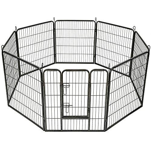 *TecTake Welpenlaufstall Tierlaufstall Freigehege Hunde Laufstall – diverse Modelle – (8eckig | Nr. 401717)*