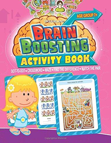 Stimuler l'activité cérébrale livre: Match de la paire, Trouvez la différence, Maze, Mots croisés, Dot-to-Dot (7+ ans) par Dreamland Publications