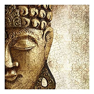 Apalis Vliestapete-Vintage Buddha-Wandbild quadratisch