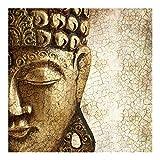 Apalis Vliestapete Vintage Buddha Fototapete Quadrat | Vlies Tapete Wandtapete Wandbild Foto 3D Fototapete für Schlafzimmer Wohnzimmer Küche | Größe: 192x192 cm, braun, 95497