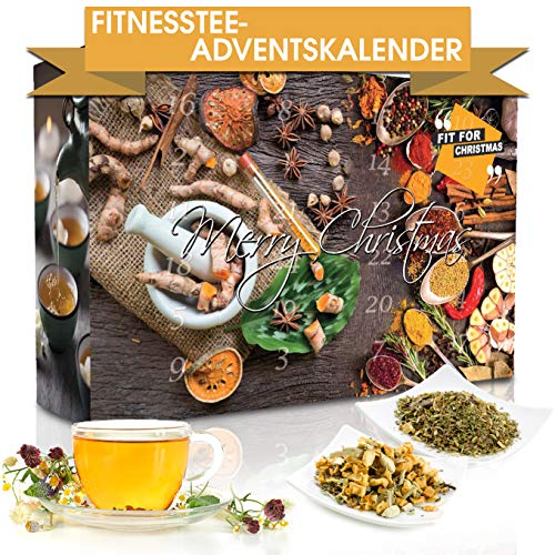 "Wellness-Tee-Adventskalender ""Fit for Christmas 2019"""