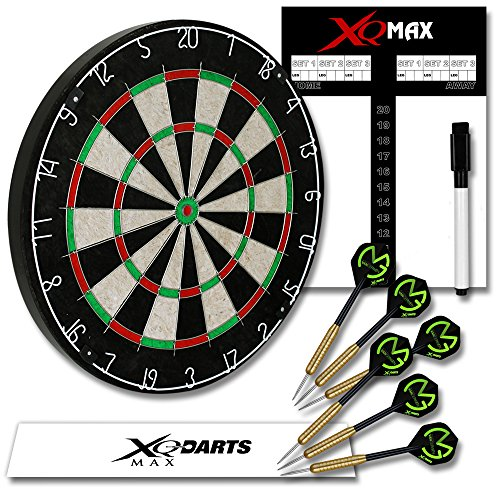 *Michael van Gerwen Dart Starter-Set – Dartboard – Dartscheibe – Dart Starter-Set inkl. 6 Flights MVG schwarz*