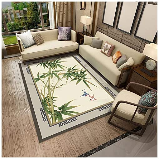 DFRTYE Chinese Carpet,large Classic Floral Patter Rug Painting Thicken Mat For Bedroom Sofa Coffee Table Bed Blanket Living Room Hotel,3Dprinting(a)-80 * 120cm