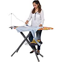 Parasnath Square Steel Mash Wire Folding Ironing Board with Tray/Wire Manager and Aluminised Surface-Multi Colour (Made…