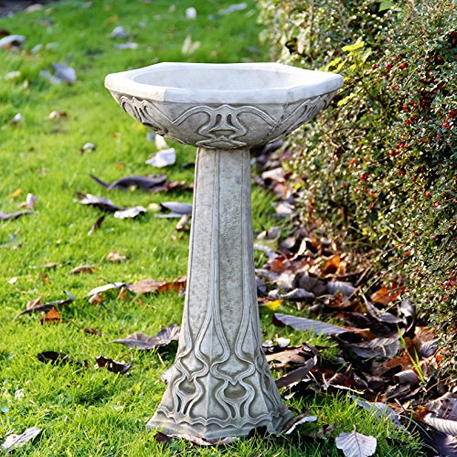 Art Deco Bird Bath Feeder High Quality Stone Garden Ornament