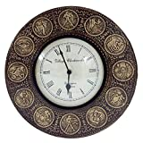Royals Craft Handicraft Vintage Brass Finish Clock