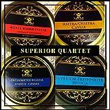 Le Quatuor Supérieur de Caviar 4x10g. Livraison gratuite