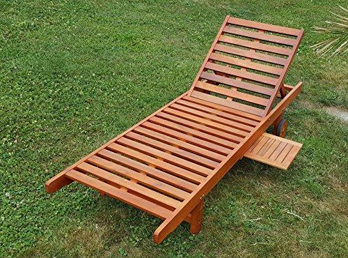 AS-S Sonnenliege Gartenliege Strandliege Liegestuhl Holzliege Holz Eukalyptus Hartholz wie Teak SABALO von AS-S