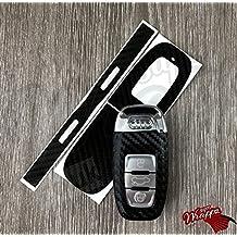 Fibra de Carbono, color negro diseño clave de Audi Smart Remote A1A3A4A5A6A8TT Q35Q7