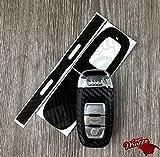 Schwarz Carbon Faser Schlüssel Wrap Cover Audi Smart-Fernbedienung A1A3A4A5A6A8TT Q35Q7