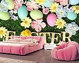 Yosot 3d Benutzerdefinierte Feiertage Ostern Gänseblümchen Eier Gras Foto Tapete Restaurant Wohnzimmer Schlafzimmer Tv-Wand-250Cmx175Cm