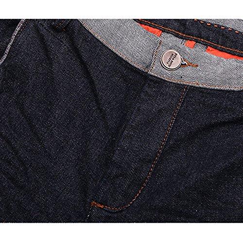 Menschwear Stein Wash Herren Jeans strecken schlanke Passform Tapered ITEM 9029