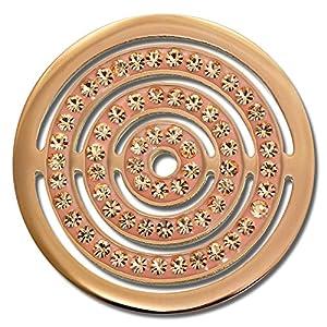 Amello Edelstahl Coin Kreise roségold Zirkonia Schmucksteine rose für Coinsfassung Edelstahl ESC534EE