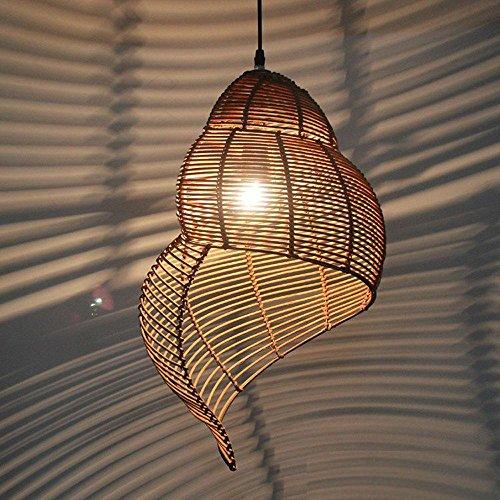 LINA-Idee del giardino per lampadario di bambù e rattan , coffee color - Giardino Di Cemento Percorso