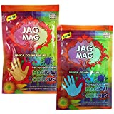 DealBindaas Jag Mag Holi Organic Colour Assroted 2 Pc | 100% Safe | Magical Body Paste | Attractive Organic Colours