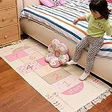 WXIN Kinderzimmer Schlafzimmer Teppich Bett und Quadratmeter Baumwolle Gestrickt Baby Für Den Rest des Spiels Maschine Waschen/Ca. 70 * 160 cm/Jungen Zu Kriechen