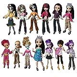 Miunana 10 Conjuntos Ropas Casual Fashionista Falda Vestidos de Fiesta para Monster High Monstruo Alto Muñeca Doll - Estilo al Azar