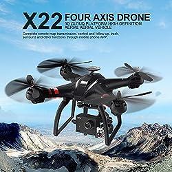 Flower205 drone para Bayang X22 doble GPS automático sigue 1080P WIFI mapa disparo aéreo zángano modo sin cabeza baja potencia retorno de vuelo pérdida de retorno