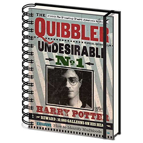 Harry Potter Cuaderno de Tapa Dura (A5) Quibbler Undesirable No 1
