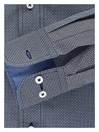 CASAMODA Herren Businesshemd auch große Größen 100% Baumwolle Dunkelblau