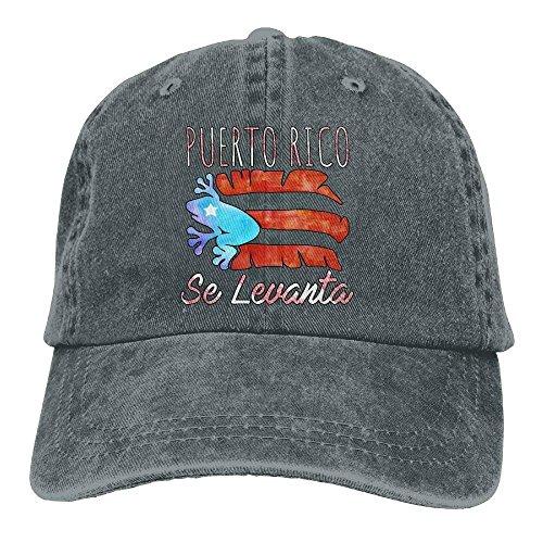 LLALUA Adjustable Denim Caps Puerto Rico Distressed Flag Baseball Dad Hats Nuyorican Rican Flag Snapback Hat for Women Men