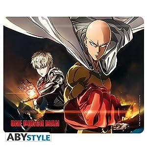 ABYstyle - ONE PUNCH MAN - Alfombrilla para ratón - Saitama & Genos