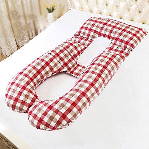 SPQRSXC Oreiller d'allaitement pour femme enceinte et coussin d'allaitement, coussin de couchage pour soulèvement d'estomac, oreiller pour dormir à la taille, oreiller en forme de G, coussin de soutie