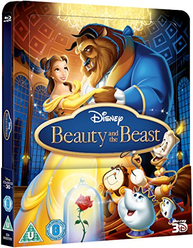 Beauty & The Beast 3D (Includes 2D Version) - Limited Lenticular Edition Steelbook Blu-ray