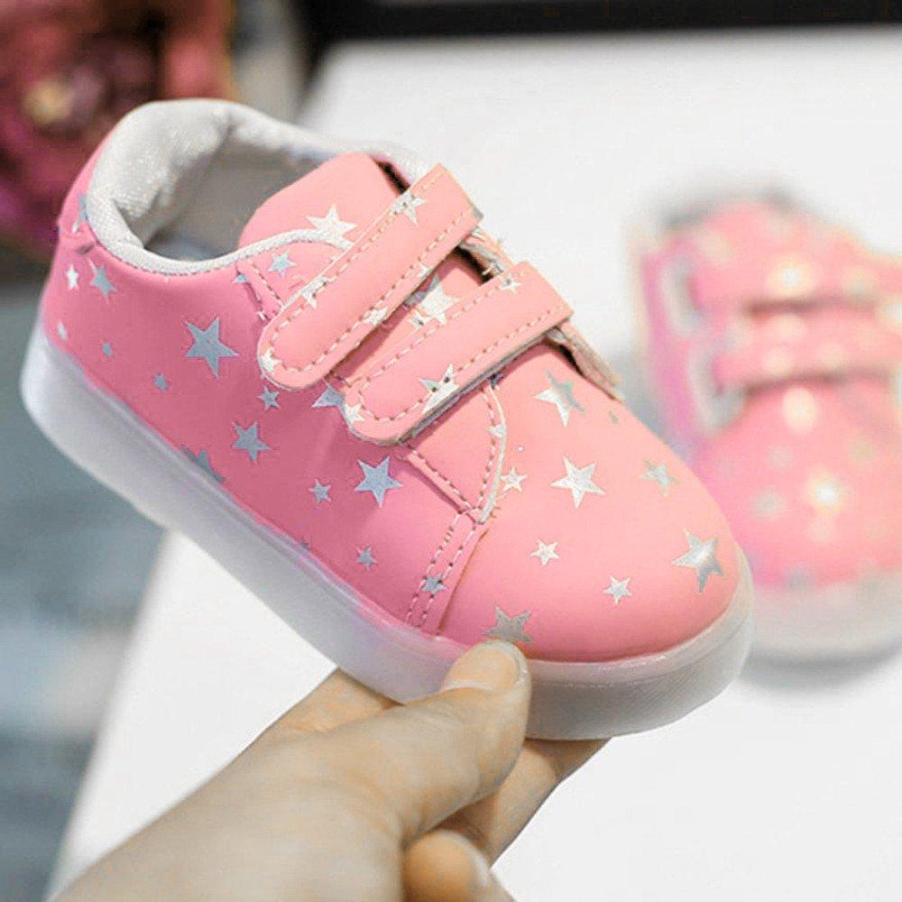 newest 8bf43 a69a5 FNKDOR Baby LED Schuhe Kinder, Mädchen Jungen Licht Turnschuhe Leuchtend  Blinkschuhe Sportschuhe, 1-6 Jahre