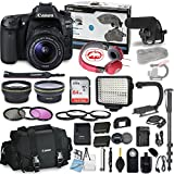 #4: Canon EOS 80D DSLR Camera Bundle with Canon EF-S 18-55mm f/3.5-5.6 is STM Lens + Professional Video Accessory Bundle Includes ECKO Headphones, Microphone, LED Video Light and More. (28 Items)