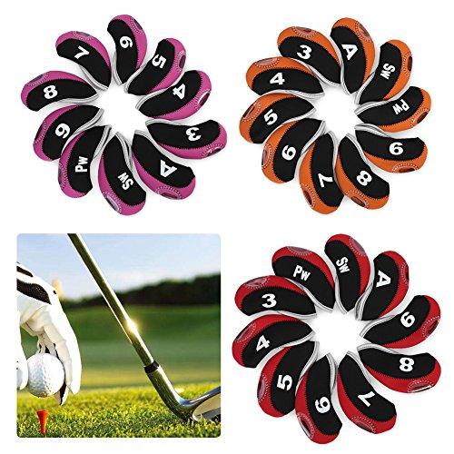 Tbest 10pcs étanche Club de Golf tête de Fer Couvre Putter...