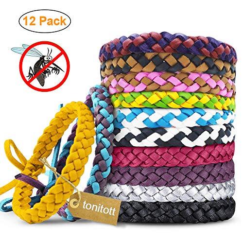 tonitott Mückenschutz Armband Anti mücken Armband 100% natürlicher Pflanzenextrakt Moskito Armband für Kinder geeignet, Erwachsene Indoor und Outdoor Camping Klettern Schlafzimmer Grillen