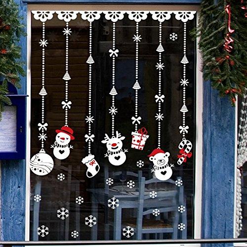 Natale vetrofanie rimovibile adesivi murali fai da te finestra decorazione vetrina wallpaper adesivi - Decorazioni natalizie per porte e finestre ...