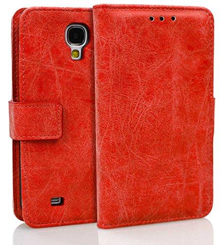 Samsung Galaxy S4 hülle, Roreikes Kuh Leder Holster hülle Bookstyle Handyhülle Premium Leder Tasche Flip Case Brieftasche Etui Handy Schutz Hülle für Samsung Galaxy S4