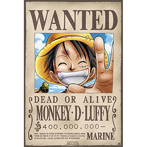 "One Piece ""Wanted Luffy poster (52 x 35 cm)"