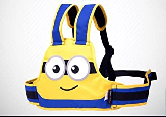 SI Kids Safety Belt for Two Wheeler Front and Back Sitting (Minion Yellow)