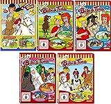 Bibi & Tina - DVD 1-5 zur Zeichentrick TV-Serie im Set - Deutsche Originalware [5 DVDs]