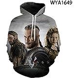 Casual Movie Hoodies Viking Printed 3D Hoody Men Women Children Sweatshirts Vikings Odin Pullover Streetwear Clothes