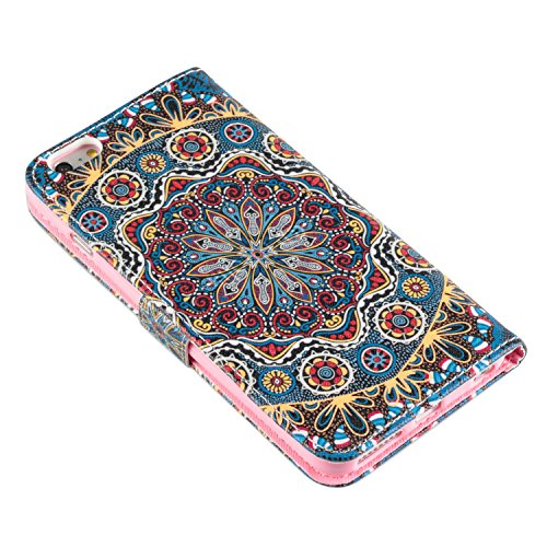 deinPhone Apple iPhone 6 (4.7) Case Mandala Blu/Rosso