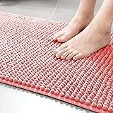 Lnxd Fußmatten Badezimmer Tür Matten in Die Tür Toiletten Absorbierende Tür Matten Matten Home Matten Badezimmer Teppiche, 500Mm × 800Mm, Rot