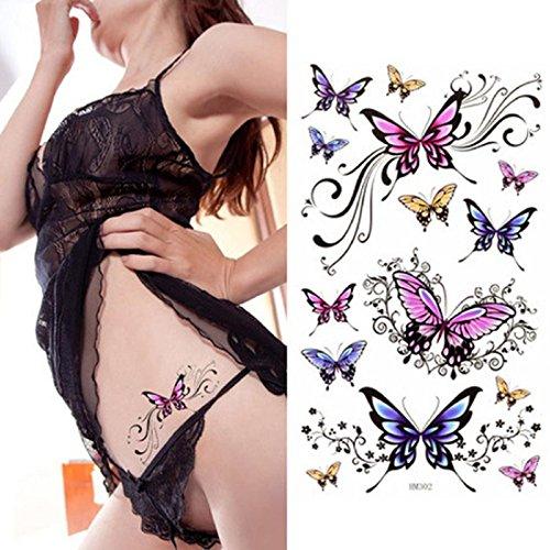 tatouages-temporairesoverdose-waterproof-tatouages-ephemeres-mode-beau-papillon-tatouage-autocollant
