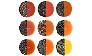 Black Tea Sampler - 10 TEAS, 50 Servings | 100% Natural Ingredients | High Caffeine, Healthy Coffee Replacement | Brew Hot, Iced, Kombucha Tea | Black Tea Loose Leaf | Tea Variety Pack & Tea Gift Set