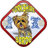 Placa bebé a bordo Yorkshire a bordo perro a bordo
