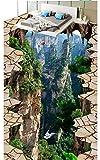 Weaeo Personalizzata Carta Da Parati Foto 3D Pavimentazione Impermeabile L'Auto-Adesione Murales Picco Di Montagna 3D Tridimensionale Di Pittura Adesivi Per Pavimenti-120X100Cm
